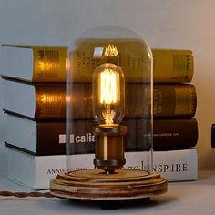 FDH  Art Deco scrivania in legno lampade in vetro trasparente abat-jour base tavolo della lampadina delle luci di luce di legno lampade da lettura , 220-240V