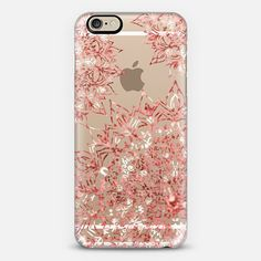 LUXURY CORAL MANDALA - CRYSTAL CLEAR IPHONE CASE