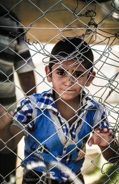 A child refugee at Bohsin camp, 2012.