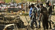 Nigerian market by suicide bomb attacks have caused 30 dead 83 injured