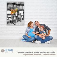 Bonito cuadro decorativo armoniza el ambiente para esta Familia Big Photo Frames, Polaroid Film, Impalas, Beauty, Black And White, Best Relationship, Art, Happy Family, Impala