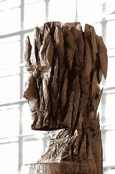 Holz 1/2: Skulptur am Münchner Flughafen von Florian Ernst