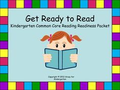 Kindergarten Reading Readiness Packet - Packed with activities focusing on letter identification, phonemic awareness, syllables, and sight word recognition.