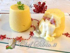 Sformatini  di polenta con provola e salsiccia