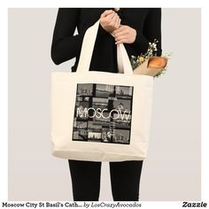 Moscow City St Basil's Cathedral Architecture City Large Tote Bag Cathedral Architecture, St Basils Cathedral, St Basil's, Large Tote, Design Your Own, Moscow, Tote Bag, City, Casual