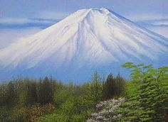 'Mt. Fuji in Spring' lithograph by Nori SHIMIZU - Japanese Painting Gallery