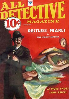 All Detective Magazine - November, 1933.  Cover art by Lyman Anderson.