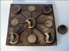 tres en raya de cerámica tres en raya barro refractario,esmaltes,fundentes cerámica artesanal
