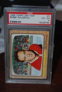 PSA 4 1966 Topps USA Test Set Bobby Rousseau #7 Montreal Canadiens Hockey Card Sold And Photographed By Thegoodoldboys by Topps. $100.00. Rare hockey card from a rare set! Something a real collector should have in his or her collection.      ***For anyone that wants to buy more than 1 from me, Thegoodoldboys***  Amazon won't let me fix the shipping, so what has to be done is when you buy multiple items from me, you will get charged shipping for each one.  What I can do is then ...