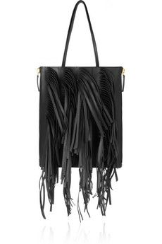 Marni Fringed leather tote | NET-A-PORTER