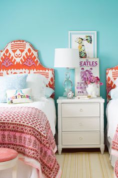 14. Bold shades of aqua bring vitality to a child's bedroom.  - CountryLiving.com