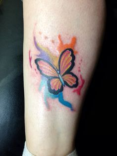 Watercolor butterfly tattoo done by robert winter abstract art tattoo, wate Watercolor Butterfly Tattoo, Abstract Art Tattoo, Butterfly Tattoo Meaning, Butterfly Tattoo On Shoulder, Butterfly Tattoos For Women, Butterfly Tattoo Designs, Best Tattoo Designs, Watercolor Tattoos, Abstract Watercolor