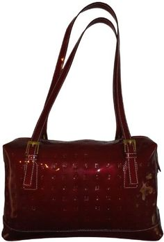 Arcadia red patent leather purse