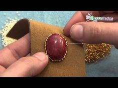 "Tutorial Embroidery: Orecchini ""Gipsy"" come lavorare e rifinire un cabochon #2 (Embroidery Earrings) - YouTube"