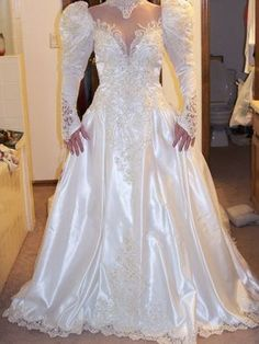 During The It Was Not Unusual To Find A Bride Dressing By Wearing Large Shoulder Pads In Her Wedding Dress I Know That Did And Loved Every Minute