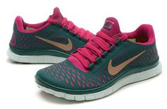 46482451d71 Nike Free 3.0 V4 Women Dark Green Peachblow Sneaker Nike Shoes Cheap