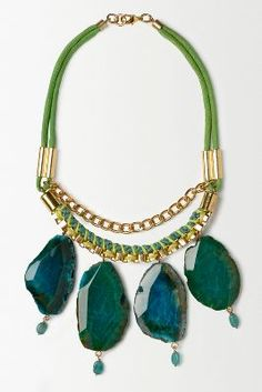 Jaded Drops Necklace by blanks via anthropologie