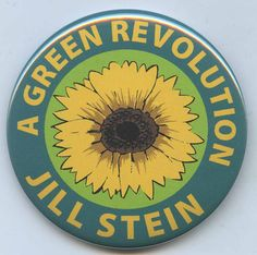 Items similar to Jill Stein Green Party Revolution 2012 button on Etsy Jill Stein, Green Logo, Green Party, Revolution, Campaign, Vegan, Button, People, Etsy