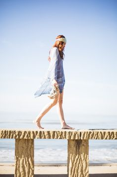 At a favorite Santa Barbara spot, Butterfly Beach in #missoni from @INTERMIX