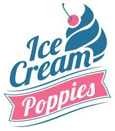 Poppies Ice Cream Parlour logo design and signage design