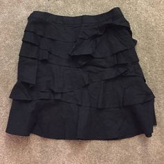 Linen ruffle skirt Linen ruffle skirt Massimo Skirts