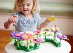 Green Toys Build-a-Bouquet Floral Arrangement Playset - BPA Free, Phthalates Free, Creative Play Toys for Gross Motors, Fine Motor Skill Development. Toys and Games Creative Skills, Creative Play, Building Toys For Kids, Holidays With Toddlers, Best Toddler Toys, Fine Motor Skills Development, Kids Blocks, Toys For 1 Year Old, Bouquet