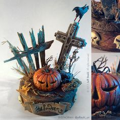 Halloween handmade miniature diorama by JeffStahl.deviantart.com on @deviantART