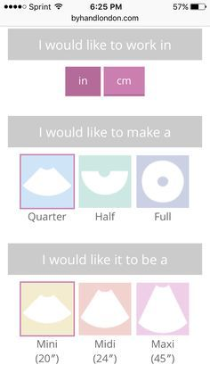 Circle skirt calculator///no thinking involved. Made it too easy! Will definitely use again.