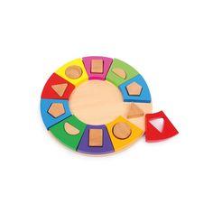 Encaje circular juguete para reforzar la discriminación visual de las personas con discapacidad.
