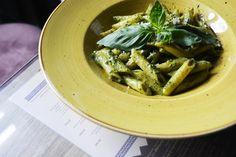 """Pesto, truly made to go with pasta. Pesto Pasta, Penne, Green Beans, Spinach, Pizza, Vegetables, Food, Pasta Al Pesto, Veggies"