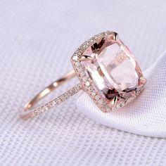 Morganite Engagement, Rose Gold Engagement Ring, Vintage Engagement Rings, Oval Engagement, Engagement Bands, Ring Designs, Bridal Rings, Wedding Rings, Gold Diamond Wedding Band