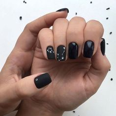 33 Natural Acrylic Black Almond & Square Nail Designs For Short Nails - 33 Natu. - 33 Natural Acrylic Black Almond & Square Nail Designs For Short Nails - 33 Natural Acrylic Black Almond & Square Nail Designs For Short Nails - - Square Nail Designs, White Nail Designs, Short Nail Designs, Cute Nails, Pretty Nails, Hair And Nails, My Nails, Black White Nails, Cute Black Nails