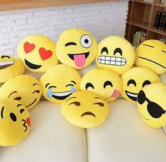 Emoji pillows are great