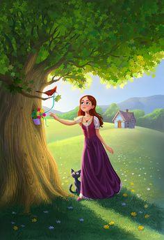 A Question of Magic Alone Art, Indian Art Paintings, Art Japonais, Cute Cartoon Wallpapers, Anime Scenery, Anime Art Girl, Cute Illustration, Disney Art, Cartoon Art