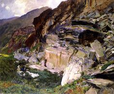 In The Simplon Valley / John Singer Sargent, American (Florence, Italy 1856 - 1925 London, England In the Simplon Valley painting Date c. Landscape Art, Landscape Paintings, John Singer Sargent Watercolors, Sargent Art, Harvard Art Museum, Traditional Paintings, American Artists, Art Google, Les Oeuvres