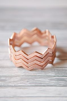 rose gold chevron bangle