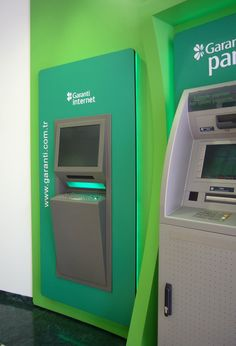 Garanti Bankası Internet Banking Kiosk...  Kiosk for Self Service Solutions and Online Banking Services