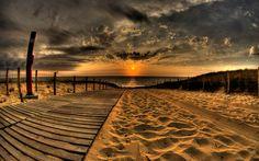 Late Beach Sunset