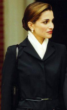 YES - white scarf and dark coat, hair NO - belt                              …