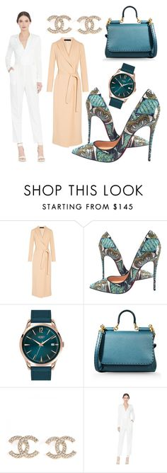 """""""Having a Green Day!"""" by tornmer ❤ liked on Polyvore featuring The Row, Christian Louboutin, Henry London, Dolce&Gabbana and Alice + Olivia"""