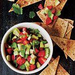 Strawberry-Avocado Salsa with Cinnamon Tortilla Chips Recipe | MyRecipes.com