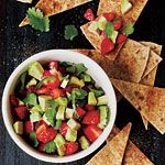 Strawberry-Avocado Salsa with Cinnamon Tortilla Chips Recipe   MyRecipes.com