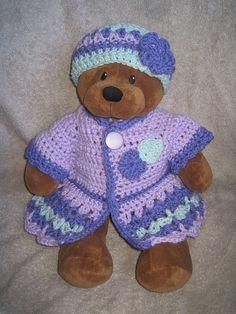 free crochet pattern, shown on a build-a-bear
