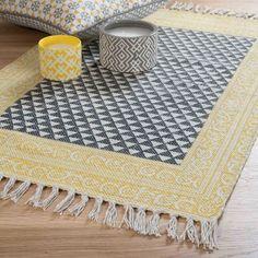 MEDAN black/white cotton rug 60 x 90 cm