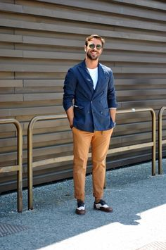 On the street at Pitti Uomo.