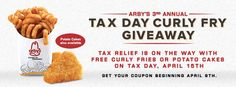 Tax Day Deals & Freebies - Free food coupons from Arby's, Panda Express, and more!