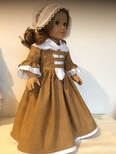Colonial Day Dress fits American Girl Dolls by Bekysdollclothes on Etsy