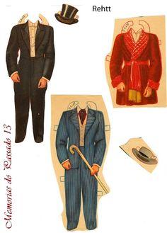 Memorias do Passado 13: O Vestuario dos Homens de E Tudo Vento Levou