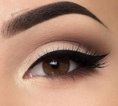 Classic black eyeliner.