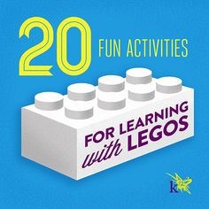 20 Fun Activities for #Learning with #Legos  The fun never stops!